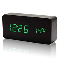 Wholesale Sound Activated Led Alarm Clock - Wholesale-2014 new table clocks , Alarm Clock LED Display, Battery USB power luminova Display Voice Sound Activated Digital Clock