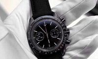 Wholesale Chronometer Quartz - Wholesale - Brand New style luxury mens sports watches chronometer racing black limited quaetz watch dark side of the moon wristwatch