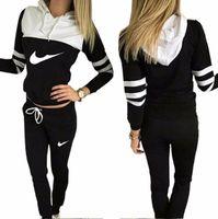 Wholesale Leisure Yoga Trousers - hot!!2017 women sportswear group sport suit women hoodie sweatshirt hooded + leisure trousers suitable for sports fitness yoga movement jogg