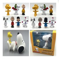 Wholesale Peanuts Christmas Figures - Mini Q Version The Peanuts Movie Charlie Brown Fifi Linus PVC Action Figure Collection Toy Doll For Kids Christmas Gift