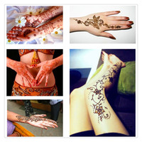 Wholesale Face Painting Stencils - New Arrivals Indian Henna Paste Cone Beauty Women Mehndi Finger Body Cream Paint DIY Temporary Drawing For Henna Tattoo Stencil DHL