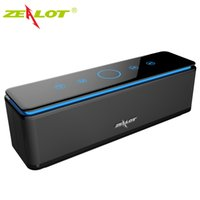 Wholesale ZEALOT S7 Speaker Touch Control Speakers Bluetooth Wireless Drivers Audio Home Music Theatre D Stereo System Computer Phones