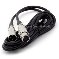 Wholesale Audio Power Mixer - 3 Meter   10ft XLR 3 Male to Female Connector Wired Microphone Signal Audio Cable For Phantom Power Condenser Mic Karaoke Mixer Sing Stage