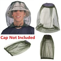 Wholesale Car Bee - Outdoor Survival Anti Mosquito Bug Bee Insect Hat Mesh Head Face Protecting Net Cover Camping Fishing Travel Protector
