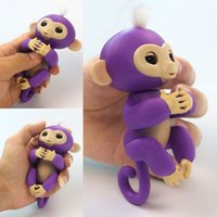 electrónica de imagen al por mayor-Real Pictures Adorable Bebé Mono Fiesta de Bodas Regalos Lovely Fingerlings Baby Monkey Con Twinkle Eyes Electronic Smart Touch Finger Juguetes
