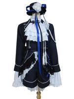 ciel s kostüme großhandel-Black Butler Cosplay Ciel Phantomhive Dunkelblaue Kostüm