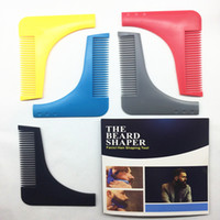 Wholesale beard shapes - New Perfect Lines Symmetry Beard Bro Shaping Shaving Tool Comb