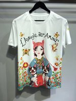 Wholesale Sweet T Shirt Clothes - Newest 2018 Fashion Things T Shirt Women's lovely and sweet girl T-shirt Summer Hipster Brand Tops Tee Clothing