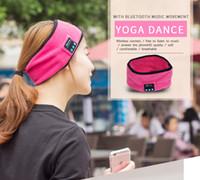 Wholesale Peaches Music - Wireless Bluetooth Music Sport Headband Speakers Mic Hands Free Headphones Headset Music Headsets Earphone Running Yoga Fitness Headbands