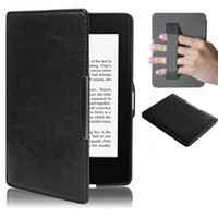 Wholesale cases for kindle paperwhite resale online - High quality PU Leather Magnet Smart Case Cover Strap for Kindle Paperwhite