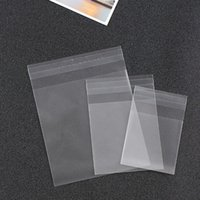 Wholesale crafts candy - 300pcs lot 4 size cute transparent Candy cookie Bags Wedding Birthday Party Craft Self-adhesive Plastic Biscuit Packaging Bag