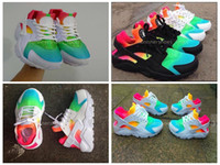 Wholesale Breathing Trainer - New Air Huarache Running Shoes Huaraches Rainbow Ultra Breathe Shoes Mens Womens Huraches Multicolor Hurache Sneakers Sport Trainers US 5-12