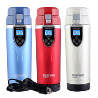 Wholesale Red Boils - 12V 24V Portable 350ml Car Auto Heating Cup Adjustable Temperature Car Boiling Mug Electric Kettle Boiling Vehicle Thermos