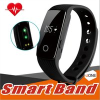 Wholesale Calorie Heart - ID107 Smart Bracelet band Fitness Tracker Activity Heart Rate Monitor Health Wristband Bluetooth Pedometer Calorie Counter for Android iOS