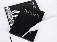 Wholesale 2017 Halloween Gifts Death Note with Feather Pen Comic and Animation Notebook Stationary for Students Office Note Books