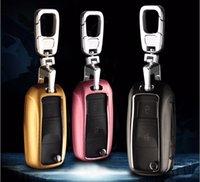 Wholesale Passat Key Chain - Car-styling 3colors Aluminum Alloy Car Key Cover suitable for Volkswagen VW Polo Jetta For Passat B5 passat b Car Key Chain