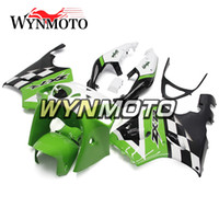 Green White Black Covers Complete Fairings Pour Kawasaki ZX7R 1996 - 2003 93 - 03 ABS Coques Mécanique Carénage Carrosserie Cowlings