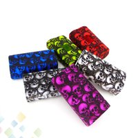 Wholesale Skull Cover Case - Predator 228W Skull head Silicone Case Best Protect Soft Cover Colorful Sleeve Skin For Predator 228 Box Mod DHL Free