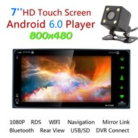 Wholesale Toyota Car Rearview Camera - 7 Inch RDS Android GPS Navigation Bluetooth Car Stereo Video Player Radio Touch Screen Support Mirror Link + Rearview Camera for Toyota Camr