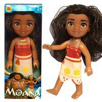 "Wholesale Doll Small Box - 6""Action Figures Baby Toys Movie Princess Moana Doll Moana boneca Doll in box Pendant Anime Collection Moana Figures Toys"