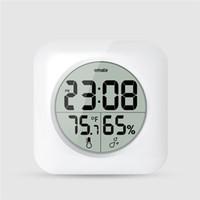 антикварный декор в деревенском стиле оптовых-Часы современные цифровые электронные часы гигрометр термометр метр спальня и кухня водонепроницаемый настенные часы ЖК-квадратные часы