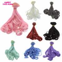 Wholesale Wholesale Bjd Wig - 15 * 100 cm BJD Wigs DIY Doll Curly Hair Rinka Haircut For Barbie Doll For Monster High For Blyth 1 3 1 4 1 6 Doll Accessories