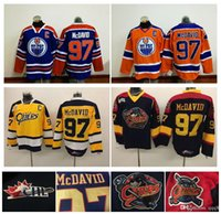 Wholesale Cheap Ice Hockey Tops - Top Quality ! Men Erie Otters Hockey Jerseys Cheap #97 Connor McDavid Jersey Authentic Stitched Jerseys Edmonton Oilers McDavid Mix Order !