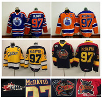 Ice Hockey Men Full Top Quality ! Men Erie Otters Hockey Jerseys Cheap  97  Connor 6a6a5b7fd