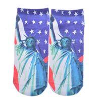 Wholesale Sexy Low Cut Socks - Wholesale- 3D Printed Socks Sexy Girls Socks Low Cut Ankle Sock Multiple Cartons Fashion Style Women Men Printed Socks