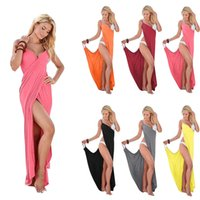 Wholesale Ladies Fashion Dresses Maxi - Sexy Multicolor Sandy Beach Bandage Nightclub Skirt Clothing Ladies Casual Dresses For Womens Clothes Woman Maxi Dress Fashions Long Sleeves