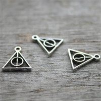 Wholesale Triangle Charms Wholesale - 60pcs--Triangle Charms, Antique silver Mini Triangle Charm Pendants, jewelry making 13X13mm