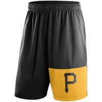Men black breeches - new styles of Men s Pittsburgh Pirates Gray black Dry Fly Shorts pants knickers breeches panties support our best for you all the time