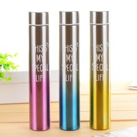 Wholesale Travel Vacuum Flask Coffee Mugs - Wholesale- 240ml Stylish Thermos Cup Termo Water Bottle Stainless Steel Gradient Insulation Thermal Vacuum Flask Coffee Travel Thermo Mug
