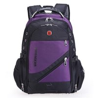 Wholesale Oxford Laptop Bag - Wholesale- 2016 the new quality water-proof Oxford saber backpack men 15 inch laptop bag sac DOS men bags backpacking in the Swiss movement