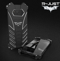 Wholesale Galaxy R Cover - Phone Case For Samsung galaxy S8 S8 Plus Armor anti-knock Cover with Free Screen Film R-JUST metal aluminum Shockproof