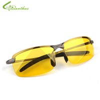 Wholesale Night Vision Car Driving Glasses - Wholesale- 2017 New Arrival Men's Glasses Car Drivers Night Vision Goggles Anti-Glare Polarizer Sun glasses Polarized Driving Sunglasses