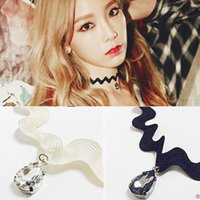 Wholesale Bijoux Lace - Hot new torques Bijoux crystal necklace pendant Maxi statement Wavy Lace Chokers Necklace for women 2016 jewelry