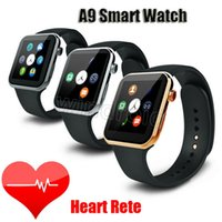 Wholesale Iphone 5pcs - A9 Bluetooth Smart Watch with Heart Rate Monitor for Apple Iwatch iPhone Samsung Android IOS Phone Smart Watch with retail package DHL 5pcs