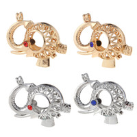 Wholesale Elephant Shaped Jewelry - Jewelry Bracelet Necklaces DIY hand made Elephant Shaped Locket Ball Cage Pendant Mountings Can Open Charms DIY Jewelry making 4 Styles