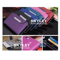 Wholesale Orange Lanyards Wholesale - For iPhone 6 Stand Design Wallet Style Photo Frame PU Leather Case With Sling Lanyard With Card Holder For Samsung Galaxy S5 DHL Free
