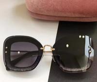 Wholesale Glitter Glasses Frames - women Square SUM 02TS grey glitter grey grey shaded Sunglasses designer brand glasses Sunglasses unisex Sunglasses Brand New with Box