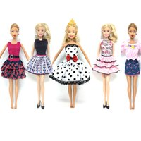 Wholesale Barbies Dolls - NK 5 Pcs   lot New Doll Accessories lifestyle Suit Slim evening Dress Clothes For Barbie doll Festival Gift For Girl