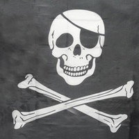 ingrosso pirati bandiere-Top Grand Pirate Flags Skull and Crossbones Jolly Roger Bandiere pirata Party Banner Hanging w / occhielli 5x3FT bandiere pubblicitarie