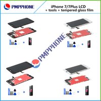Wholesale Lcd Screen Protector For Iphone - LCD Display touch screen replacements for iphone 7 7plus + Repair Opening Tool Kit Set+Tempered Glass Film Screen Protector AAA quality