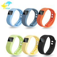 Wholesale TW64 Smart band Fitness Tracker Bluetooth Wristband Smart Pedometer Bracelet For iOS Samsung Android