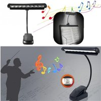 9 lampe de table LED lampe de lecture lampe de table 9 LED clignotant orchestre bras Flexible Music Stand adaptateur livre lampe de lecture Rechargeable Light