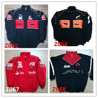 куртка наскар л оптовых-Вышивка бренда F1 FIA NASCAR IndyCar V8 Суперкар MOTO GP Racing Хлопковая куртка Мотоциклетная куртка F1 MOTO RACING JACKET мужчины AR14