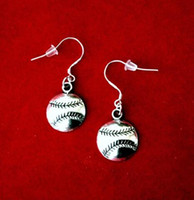 Wholesale Baseball Batting - 50Pair ANGEL BASEBALL SOFTBALL FLEUR DE LIS FLOWER SNOWFLAKE BAT SNOWMAN 925 Sterling Silver Drop Dangle Chandelier Earrings Woman Jewelry