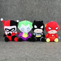 Wholesale Anime Batman Toy - 20cm The Avengers Batman Superman Plush Soft Stuffed Doll Toy for kids gift with Suction Cup free shipping retail