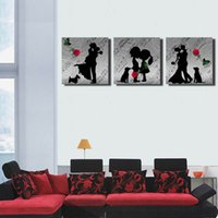 More Panel black fashion museum - unFramed Modern Pop Art Black and white couple art photos Painted ink Painting Museum Quality Multi sizes